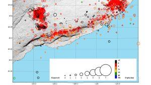 Kilauea volcano eruption, earthquake map