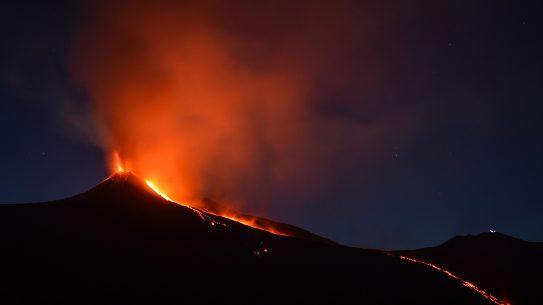 volcano, fire, ash, eruption