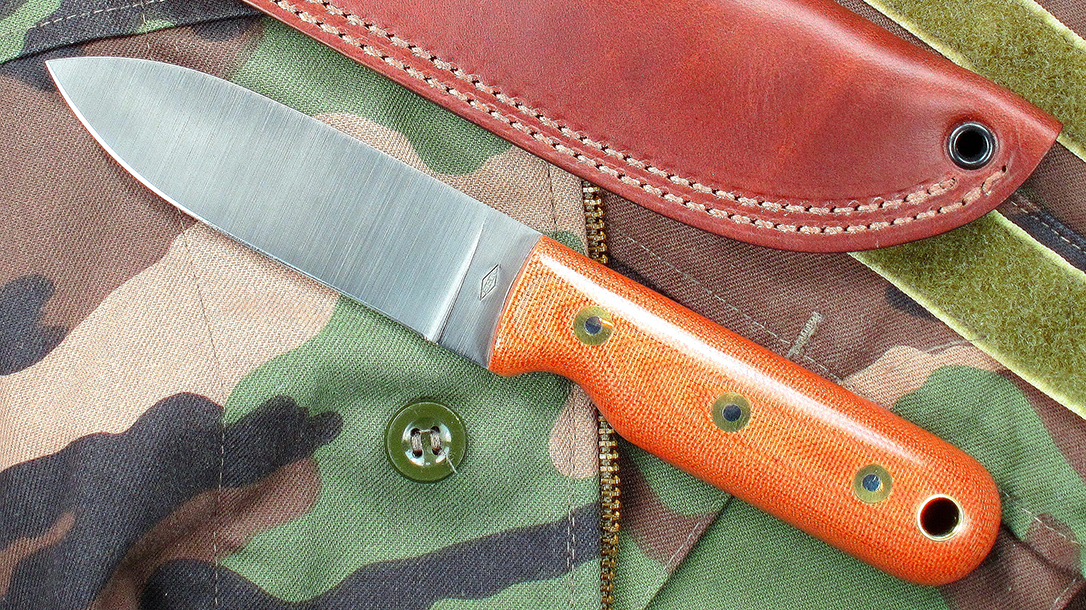 Kephart Comback: Battle Horse Bushcrafter Flat, satin finish, micarta handle