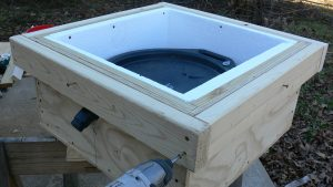 Solar-Powered Water Heater, finishing the frame