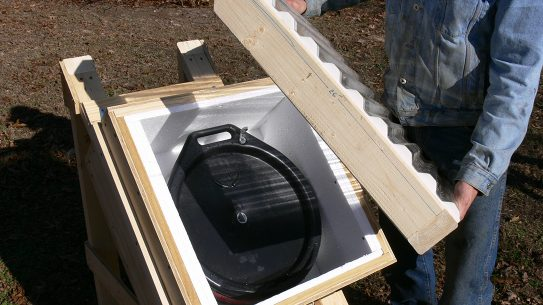 Solar-Powered Water Heater, lid