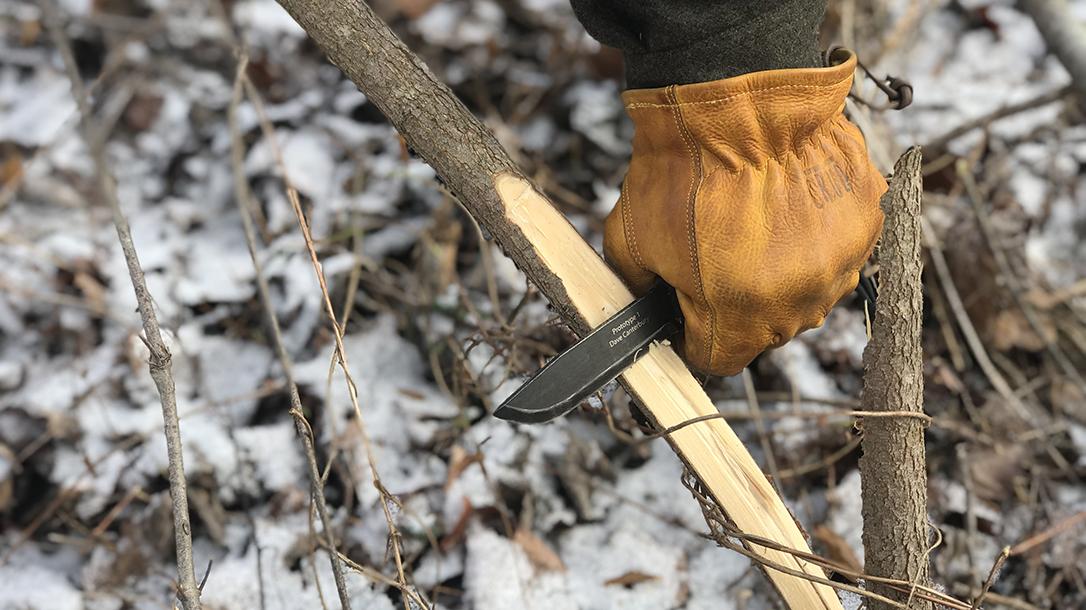 knife, sapling