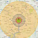 nuke map, map, Washington D.C.
