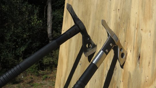 SOG, two tomahawks stuck in a board