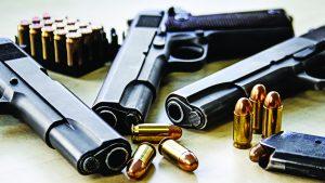 monetary collapse, three semi-automatic pistols