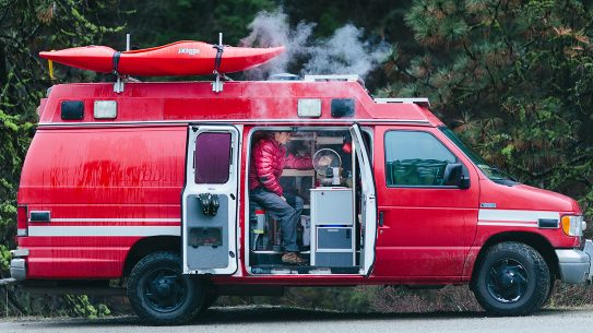 Nomad, Toby Carleton, US Travel, repurposed ambulance