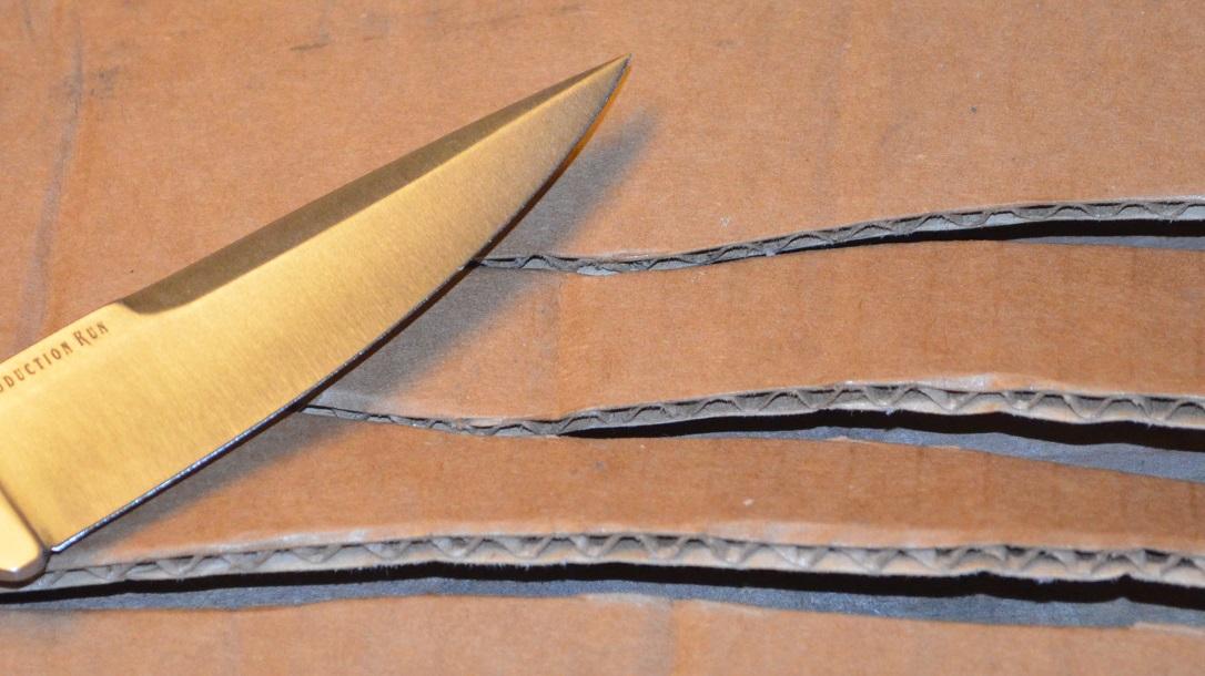 Donnybrook knife, cardboard