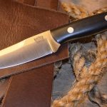 Donnybrook knife, leather and sisal