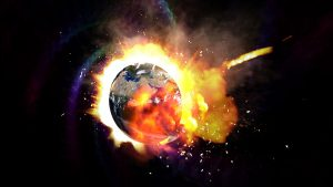 End of the world, earth explosion space