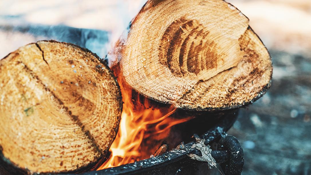 Building a fire, firewood, campfire