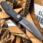 Kershaw Concierge knife, cardboard cut