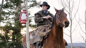 Owning a Horse, cowboy riding horse, forest
