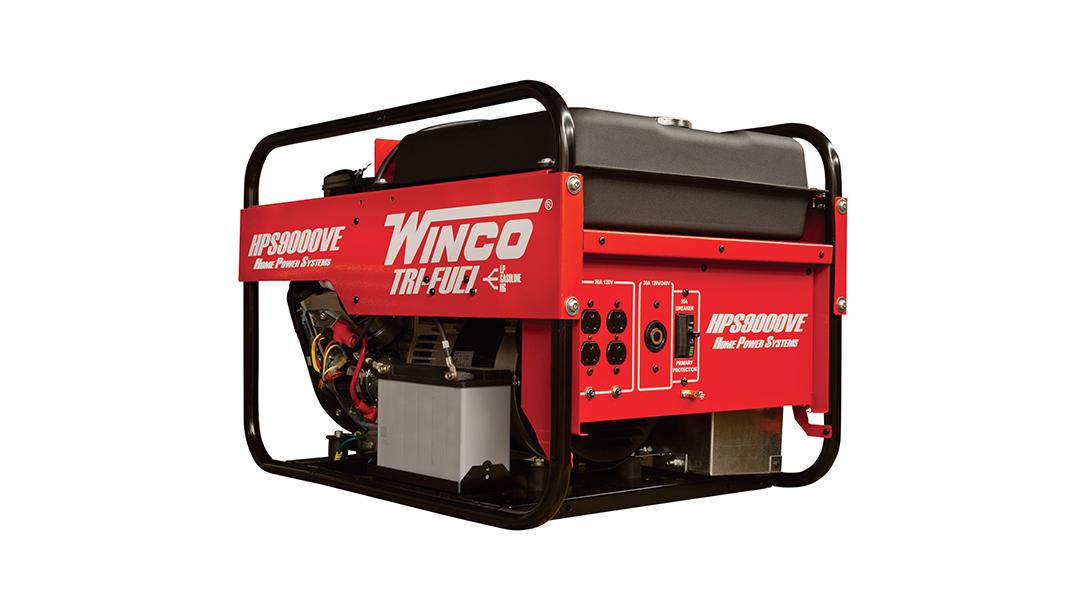 Winco Portable Tri-Fuel Generator