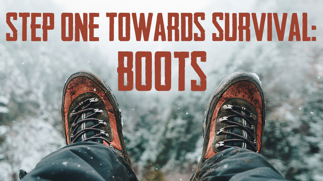 Footwear for survival, boots, snowing