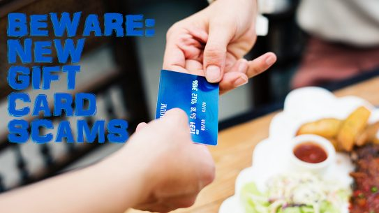 gift card, food, table, exchanging