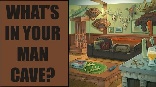 man cave illustration