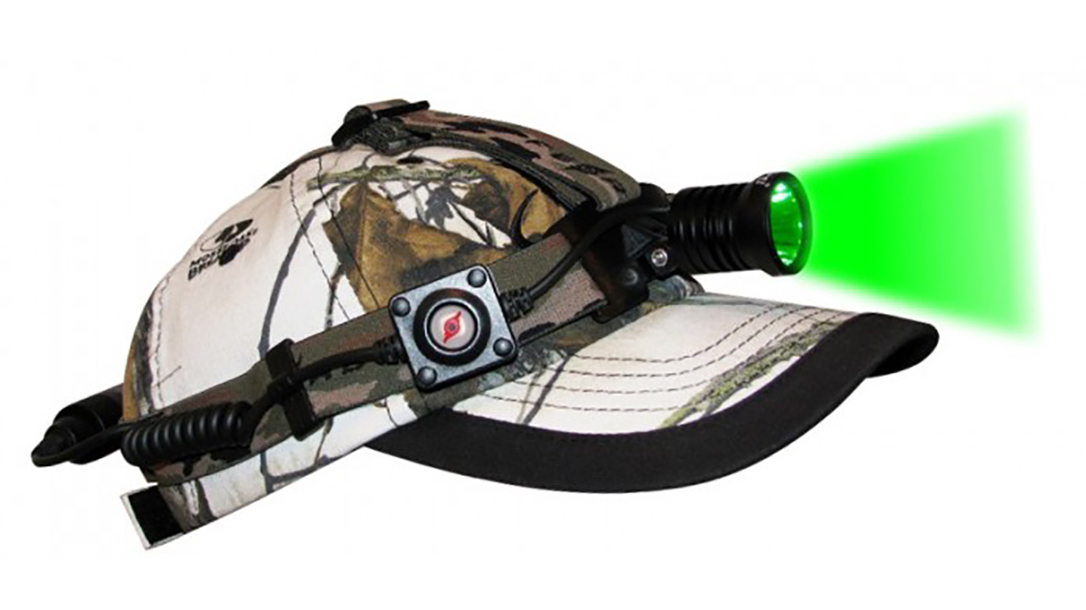 National Trappers Convention, headlamp on hat