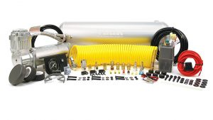 air tank, compressor, switches and hoses