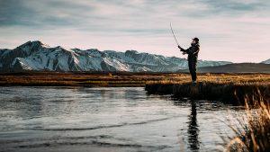 wilderness skills, lake, fishing, sunset