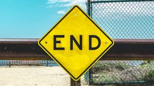 end of the world, road end sign
