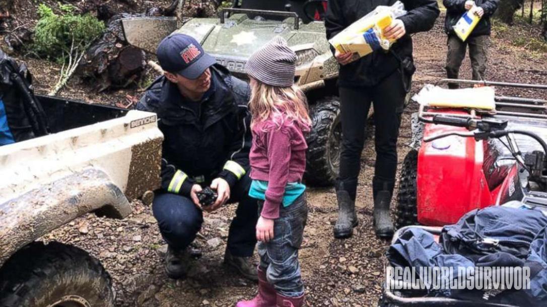 lost girls found, woods, ATV, firemen