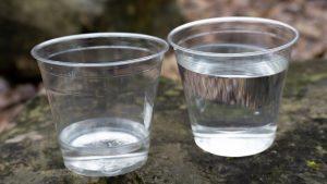 solar still, cups of water