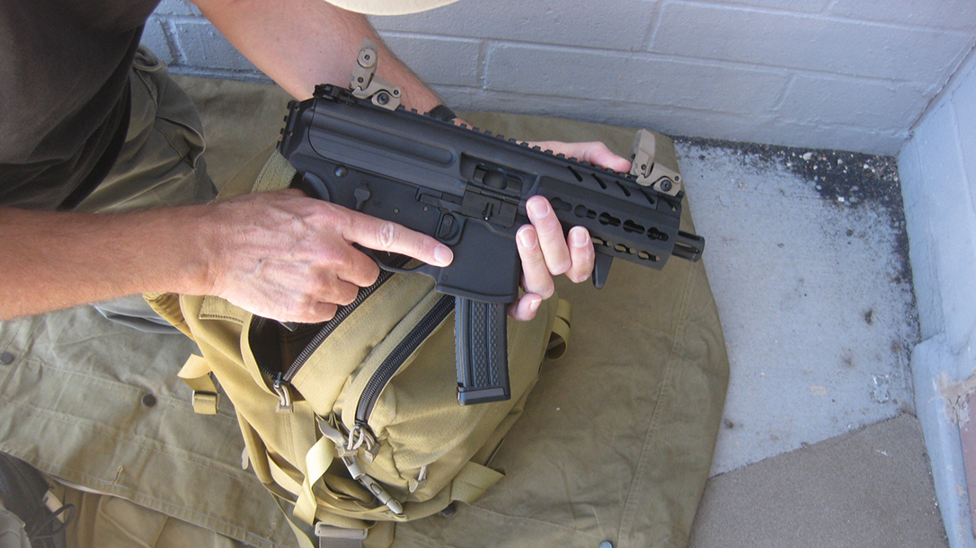bug out guns, 9mm SIG MPX, backpack