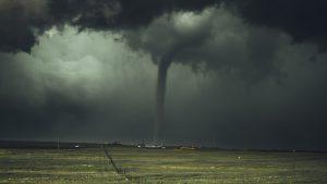 tornado, Midwest, dark skies, fields