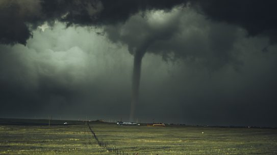 tornado, Midwest, dark skies, fields