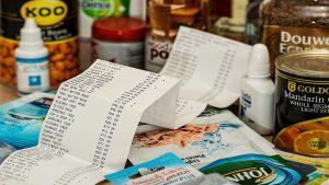 Food Storage, receipt