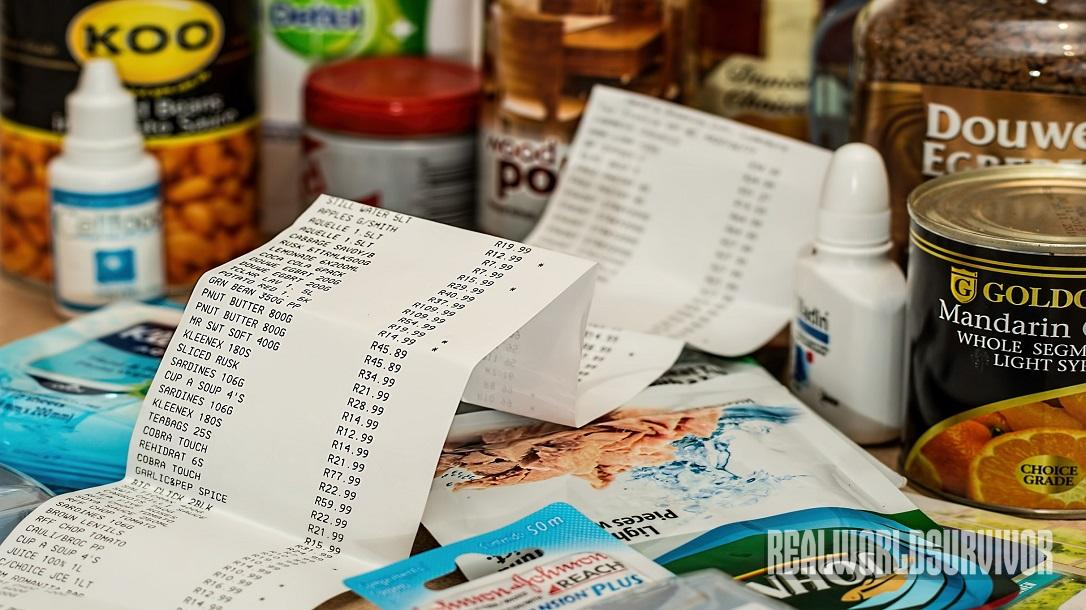 Food Storage, receipt
