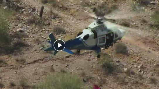 helicopter, rescue basket, desert