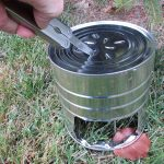hobo stove, cut in burners, multitool