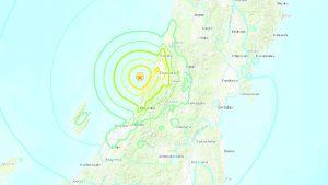 earthquake map, Japan