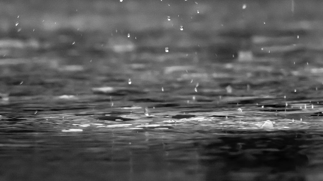 Raindrops, puddles