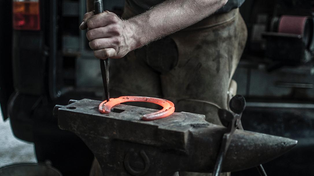 horseshoe, chisel, anvil