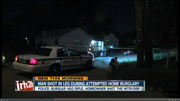 Tulsa PD Discover Burglar in the Street with a Gunshot Wound to the Thigh