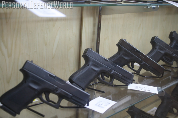 GLOCK AT THE RANGE gun selection