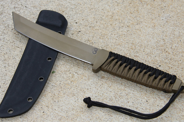 Satori Tanto Flat Dark Earth Knife