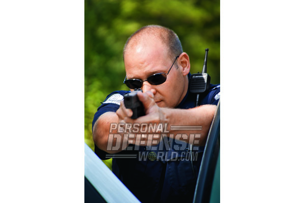 Something that criminals don't want to face— a determined officer armed with a large caliber GLOCK, ready to shoot!