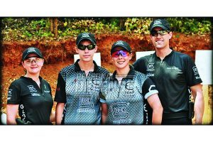 (l-r) Randi Rogers, Cody Tucker, Tierani Hendrix and Dave Sevigny at the 2010 GLOCK Annual Shoot XVII.