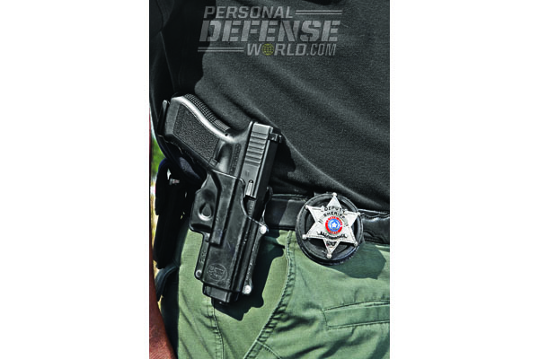 GLOCK's durable finish withstands the harsh elements of Eastern Texas—a primary factor in its selection by the Nacogdoches County Sheriff's Office.