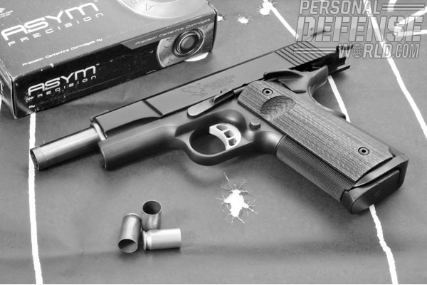 The author fired well over 700 rounds through the Falcon, including hardball and JHP loads in both 230- and 185-grain weights, and it fed beautifully.
