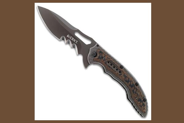 CRKT Fossil Black VeffSerrations | Folding Knife