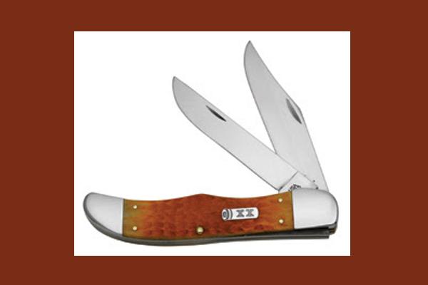 Case Cutlery's Orange Bone Folding Hunter Knife