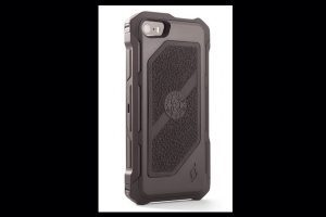 HEC iPhone 5 Rogue Black-Ops | Belt Holster | Black TPU Cover Gun Metal Grey Aluminum-Rails | Black Cobblestone Rubber