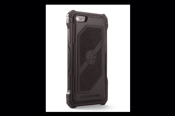 HEC iPhone 5 Sector 5 | Black-Ops Black-Aluminum-Frame with Black Cobblestone Rubber