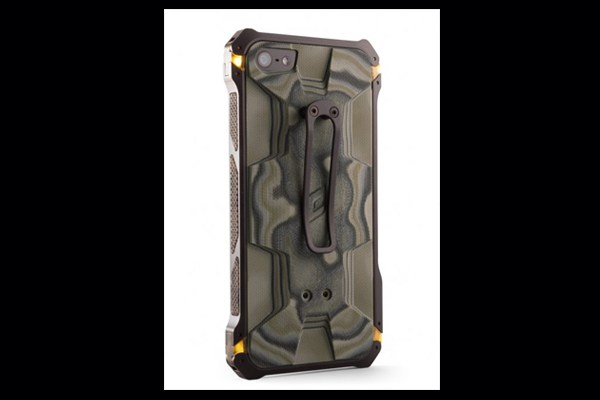 HEC iPhone 5 Sector 5 | Black-Ops Elite Black-Aluminum-Frame with G10 G-Mascus Green Camo