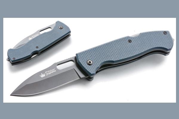Kizlyar Supreme UTE 440C Gray Titanium Knife
