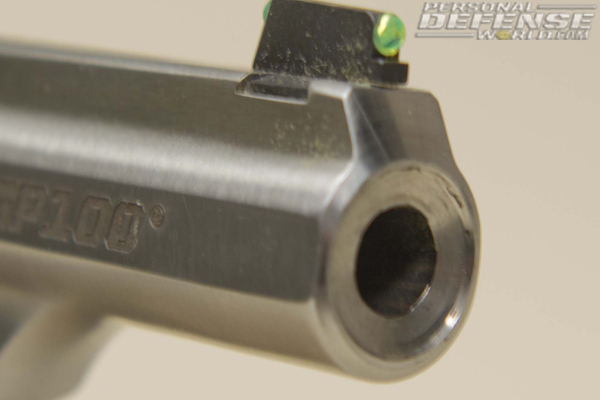 Ruger GP100 Match Champion - Front sight and Crown
